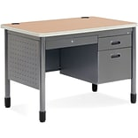 OFM Steel Single Pedestal Sales Desk, Maple
