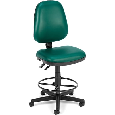 OFM Straton Vinyl Task Chair With Drafting Kit; Teal