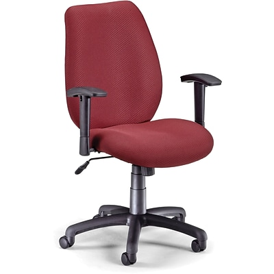 OFM Fabric Mid Back Ergonomic Managers Chair; Burgundy