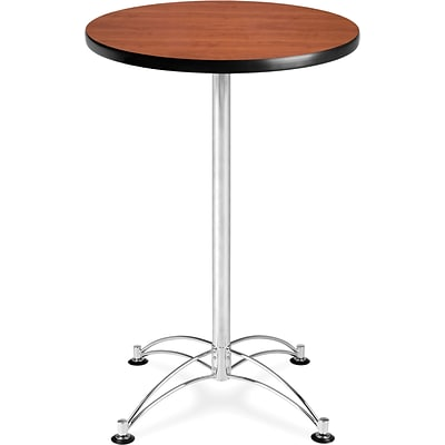 OFM 41 x 23 3/4 x 23 3/4 Round Laminate Cafe Height Table, Cherry