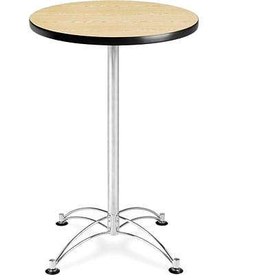 OFM 41 x 23 3/4 x 23 3/4 Round Laminate Cafe Height Table, Oak