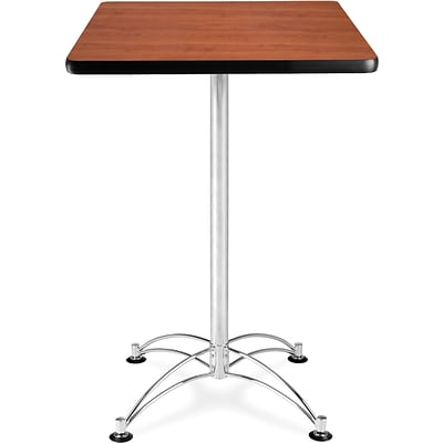 OFM 41 1/2 x 23 3/4 x 23 3/4 Square Laminate Cafe Height Table, Cherry
