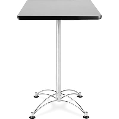 OFM 41 1/2 x 23 3/4 x 23 3/4 Square Laminate Cafe Height Table, Gray Nebula