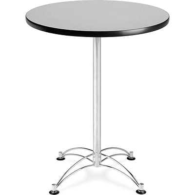 OFM 41 x 30 x 30 Round Laminate Cafe Height Table, Gray Nebula