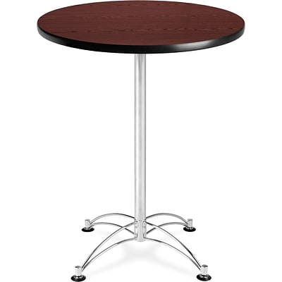OFM 41 x 30 x 30 Round Laminate Cafe Height Table, Mahogany