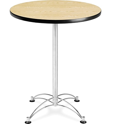 OFM 41 x 30 x 30 Round Laminate Cafe Height Table, Oak