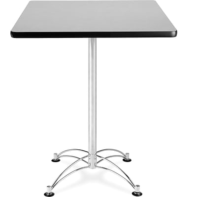 OFM 41 x 30 x 30 Square Laminate Cafe Height Table, Gray Nebula