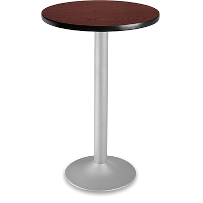 OFM 41 1/4 x 23 3/4 x 23 3/4 Round Laminate Flip-Top Folding Cafe Height Table, Mahogany