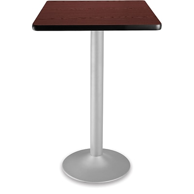 OFM 41 1/4 x 23 3/4 x 23 3/4 Square Laminate Flip-Top Folding Cafe Table, Mahogany