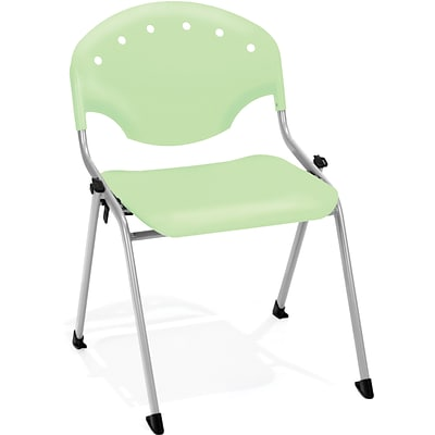 OFM Rico Polypropylene Stack Chair, Green