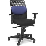 OFM AirFlo Fabric High Back Executive Task Chair, Blue