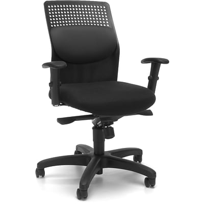 OFM AirFlo Fabric High Back Executive Task Chair, Gray