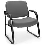 OFM Big and Tall Fabric Guest/Reception Chair, Gray