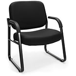 OFM Big and Tall Fabric Guest/Reception Chair, Black