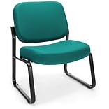 OFM Big and Tall Fabric Armless Guest/Reception Chair, Teal