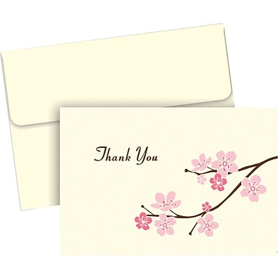 Blossom Branches Thank You, 50 count