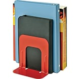 MMF Industries™ STEELMASTER® Soho Collection 5 Economy Bookend, Red