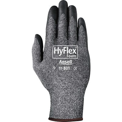 Ansell 11-801 Nylon/Foam Nitrile Coated Assembly Dark Gray/Black Gloves; Size Group 7, 12/Pair