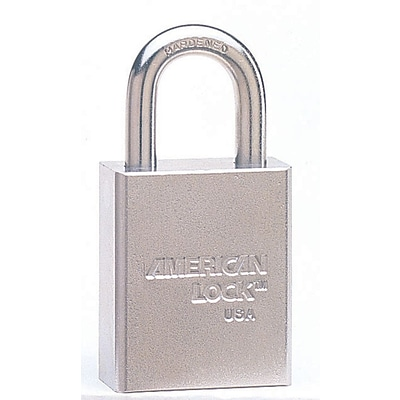 American Lock® A7200 Steel Padlock With Tubular Cylinder, 7 Pin, Chrome