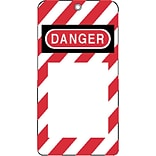 North® ELA290 Styrene Lockout Tag, Red/White(Background)