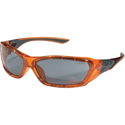MCR Safety® ForceFlex® FF132 Protective Eyewear, Gray/Translucent Orange