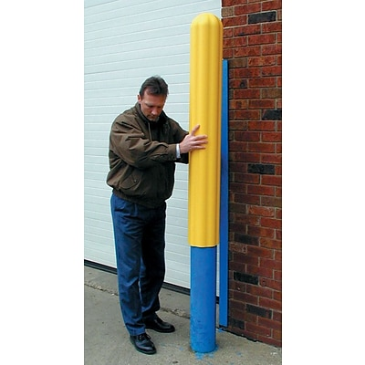 Eagle Mfg 1732 56(H) x 4 3/4(ID) x 5 3/4(OD) Original Ribbed Post Sleeve, Yellow