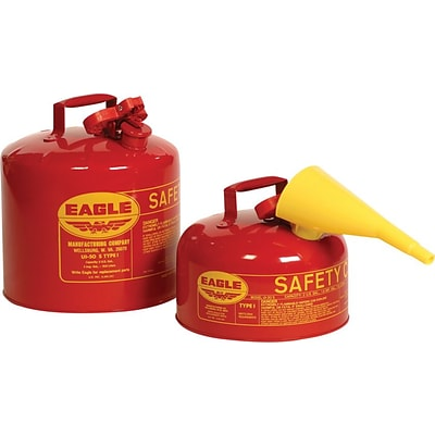 Eagle Mfg 258-UI-50-SB Type l Safety Can, 5 gal