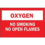 Brady® No Smoking no open flames Chemical & Hazardous Materials Sign, 7(L) x 10(W)
