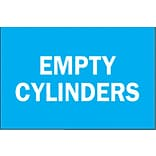 Brady® Empty Cylinder Chemical & Hazardous Materials Sign, 7(L) x 10(W)