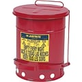 Justrite® 09200 Red Oily Waste Can, 2 gal