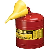 Justrite® 7125110 Type I Safety Can, 2 1/2 gal