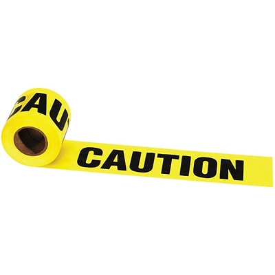 Irwin® Strait-line® 3(W) x 1000(L) x 2 mil(T) Caution Construction Area Barrier Tape, Yellow/Black