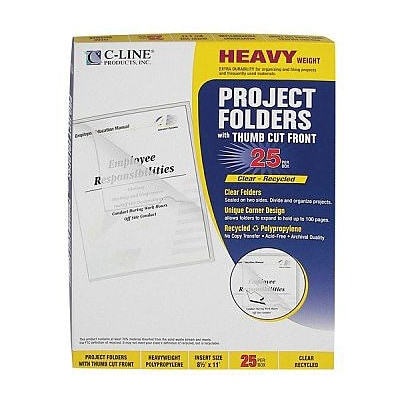 See-thru Plastic File Folders, Clear
