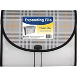 C-Line® Letter 7 Pockets Expanding File with 1-1/2 Expansion, Black