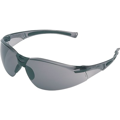 North® A800 Series Safety Glasses, Anti-scratch, Gray Lens