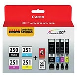 Canon® 250PGBK/251CMY Black and Tri-Color Ink Cartidge Multi-pack (4 cart per pack)