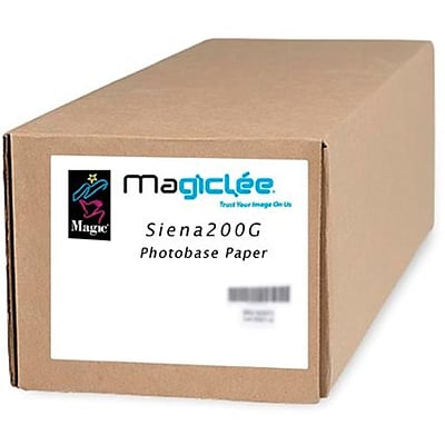Magiclee/Magic Siena 200G 24 x 100 Coated Gloss Microporous Photobase Paper, Bright White, Roll