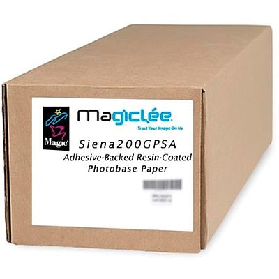 Magiclee/Magic Siena 200G PSA 50 x 50 Coated Gloss Microporous Photobase Paper, Bright White, Roll