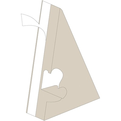Blanks/USA® 6 Tall 40 Point Chipboard Easel, Natural, 10/Pack