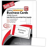 Blanks/USA® 3 1/2 x 2 80 lbs. Micro-Perforated Business Card, White, 1000/Pack