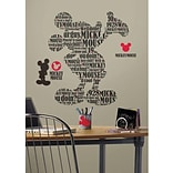 RoomMates® Typographic Mickey Mouse Peel and Stick Giant Wall Decal