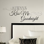 RoomMates® Always Kiss Me Goodnight Peel and Stick Wall Decal, Black