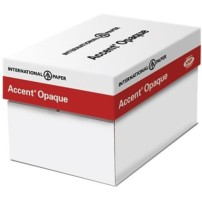 IP Accent® Opaque 8 1/2 x 14 60 lbs. Digital Smooth Multipurpose Paper, White, 5000/Case