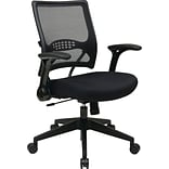 Office Star Space Seating® Fabric Mid Back Managers Chair, Black