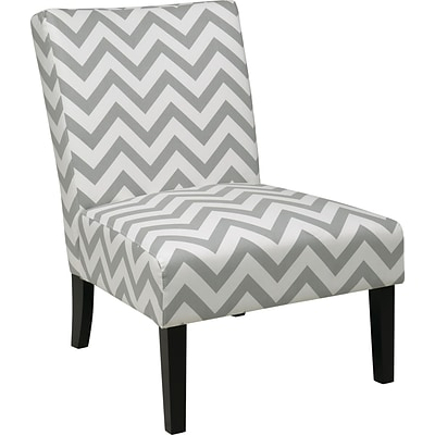 Office Star Ave Six® Fabric Victoria Chair, Zig Zag Gray