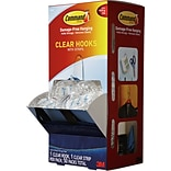 Command™ Clear Medium Hooks Cabinet Pack; 50/Pack