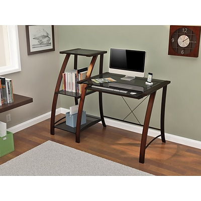 Z-Line Designs Triana Wood/Metal Desk and Bookcase; Cherry