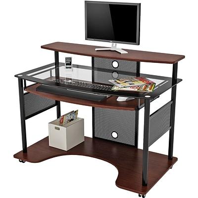 Z Line Designs Cyrus Workstation Gl Desk Cherry Quill