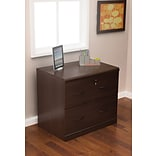 Z-Line Designs 28 1/4 Wood Lateral File Cabinet, 2-Drawer, Espresso