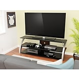 Z-Line Designs Elecktra 58 TV Stand, Black Glass Cherry